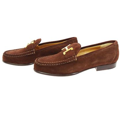 hermes-constance-h-logos-shoes-loafer-brown
