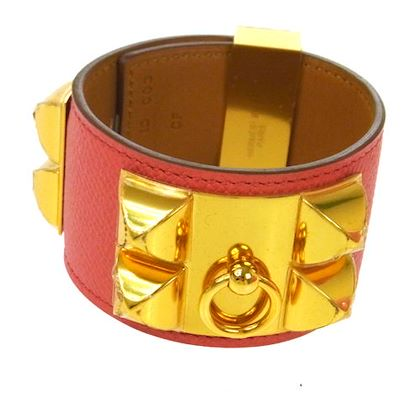 hermes-collier-de-chien-bangle-pink