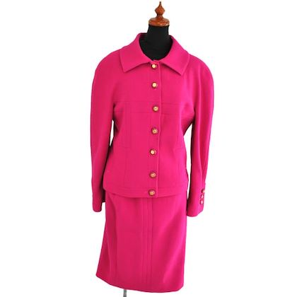 chanel-cc-setup-suit-jacket-skirt-pink-100-wool-38