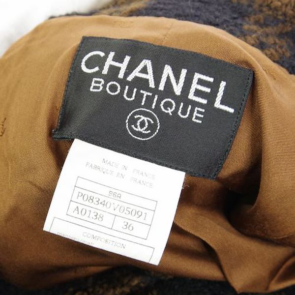 chanel-cc-long-sleeve-jacket-coat-brown-black