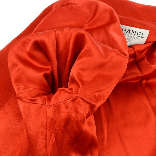 chanel-cc-button-long-sleeve-coat-jacket-red