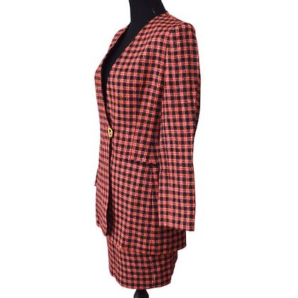christian-dior-long-sleeve-setup-jacket-skirt-red