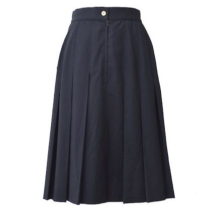 chanel-cc-logos-pleated-long-skirt-black-2