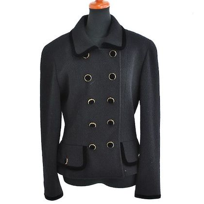 chanel-cc-logos-peplum-jacket-black-wool-nylon-38