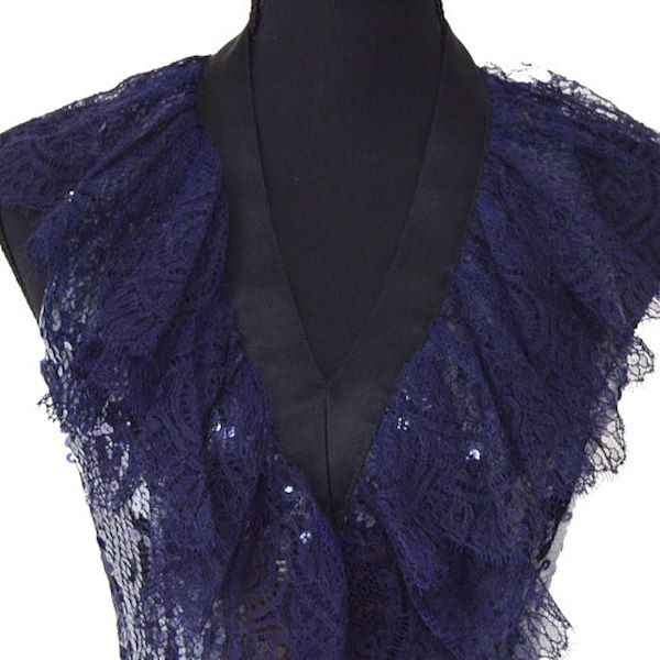 chanel-spangle-lace-cc-sleeveless-party-dress-purple-38