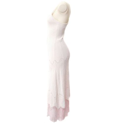 chanel-lace-sleeveless-one-piece-dresses-skirt-white-38