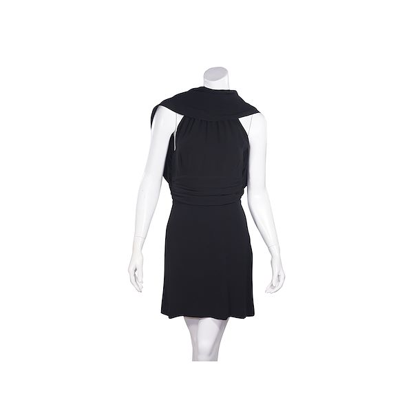 black-fendi-silk-convertible-silk-mini-dress