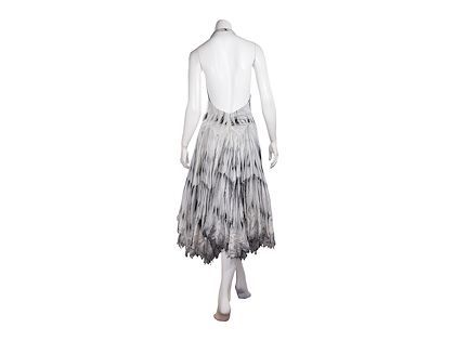 grey-alexander-mcqueen-feather-printed-dress