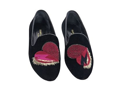 black-saint-laurent-velvet-heart-loafers