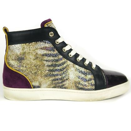 christian-louboutin-purple-glitter-high-top-sneakers-zebra-print-us-10-43-pre-owned-used