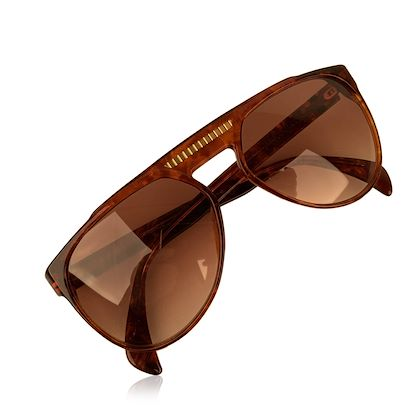Yves Saint Laurent Vintage 80S Brown Marbled Sunglasses 8726 P094