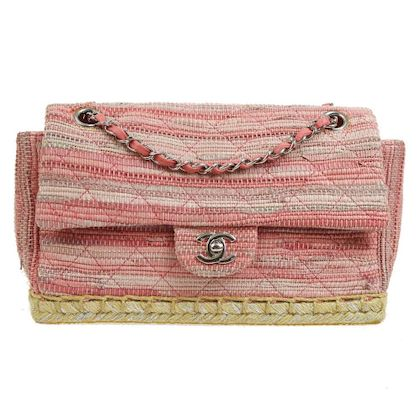 chanel-espadrille-quilted-cc-double-chain-shoulder-bag-pink