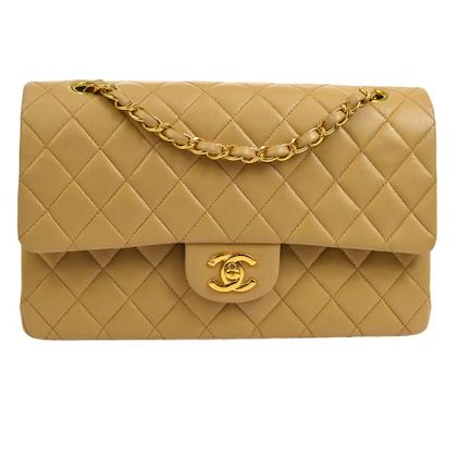 chanel-quilted-double-flap-chain-shoulder-bag-beige-4