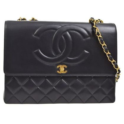chanel-quilted-jumbo-xl-double-chain-shoulder-bag-black
