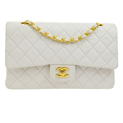 chanel-quilted-cc-double-flap-chain-shoulder-bag-white-2
