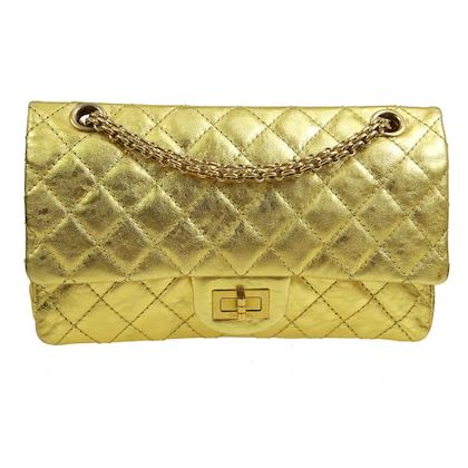 chanel-255-quilted-double-flap-chain-shoulder-bag-gold