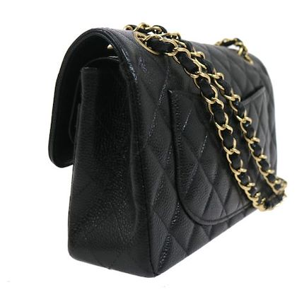 chanel-quilted-double-flap-chain-shoulder-bag-black-2