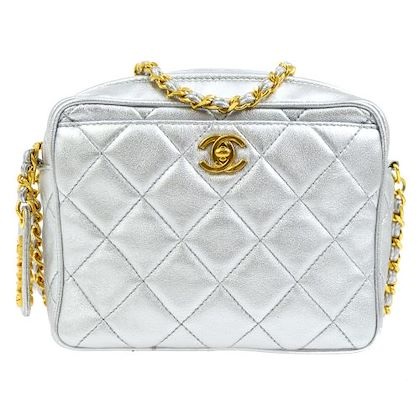 chanel-quilted-cc-logos-single-chain-shoulder-bag-silver