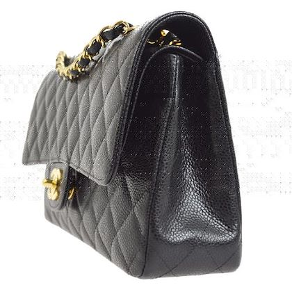 chanel-quilted-double-flap-chain-shoulder-bag-black-3