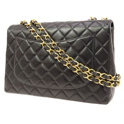 chanel-quilted-cc-logos-double-chain-shoulder-bag-black-6