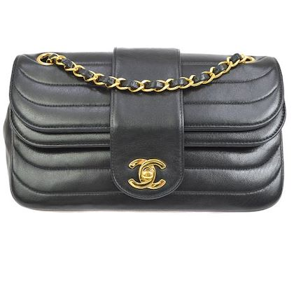 chanel-quilted-double-flap-chain-shoulder-bag-black-5