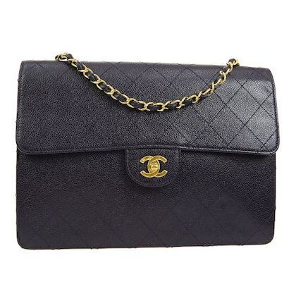 chanel-quilted-jumbo-single-chain-shoulder-bag-navy