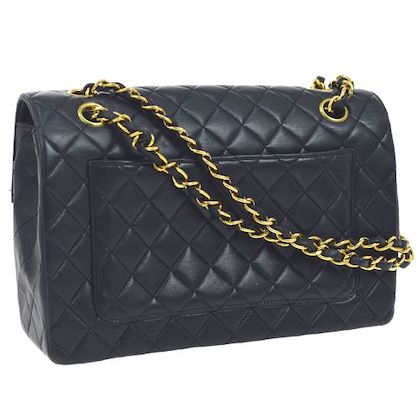 chanel-quilted-cc-double-chain-shoulder-bag-navy
