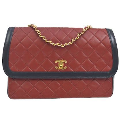 chanel-quilted-cc-single-chain-shoulder-bag-bi-color-red