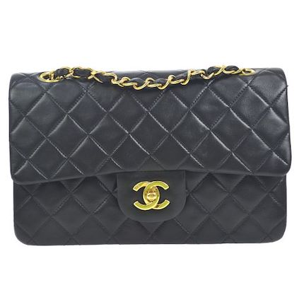 chanel-double-flap-quilted-chain-shoulder-bag-black-6