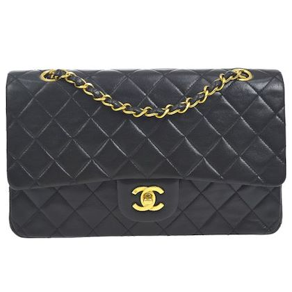 chanel-double-flap-quilted-chain-shoulder-bag-black-7