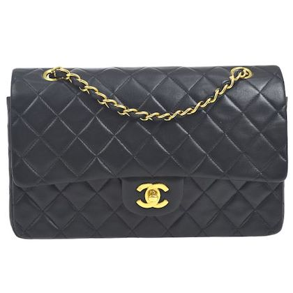 chanel-double-flap-quilted-chain-shoulder-bag-black-8