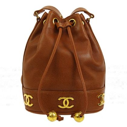 chanel-cc-drawstring-chain-shoulder-bag-brown