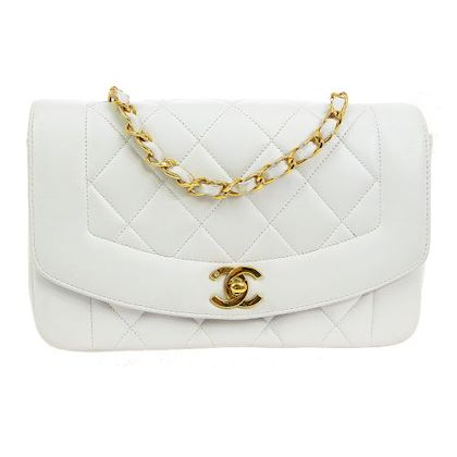 chanel-diana-quilted-cc-single-chain-shoulder-bag-white-2