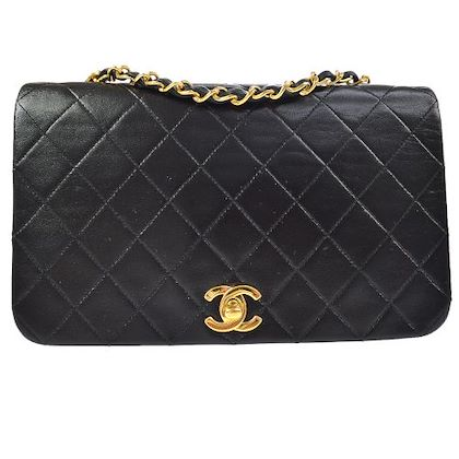chanel-quilted-cc-full-flap-single-chain-shoulder-bag-black-3