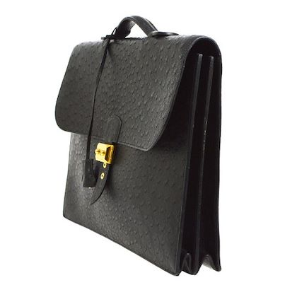 hermes-sac-a-depeches-41-briefcase-hand-bag-black-ostrich