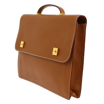 hermes-danube-briefcase-hand-bag-brown-veau-greine-couchevel