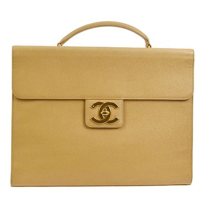 chanel-cc-briefcase-business-hand-bag-beige