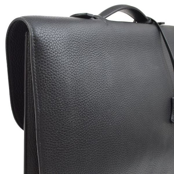 hermes-sac-a-depeche-38-briefcase-hand-bag-black-togo