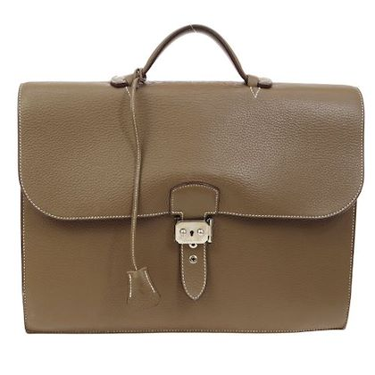 hermes-sac-a-depeche-38-briefcase-hand-bag-brown-traurillon-clemence