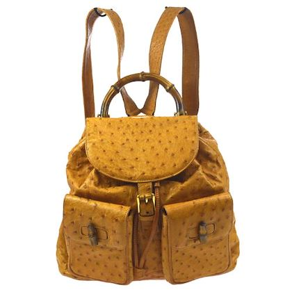 gucci-bamboo-backpack-hand-bag-brown-ostrich