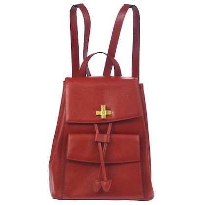 celine-logos-backpack-hand-bag-red