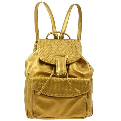bottega-veneta-intrecciato-backpack-hand-bag-gold