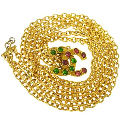 chanel-cc-logos-stones-motif-gold-chain-belt-gold