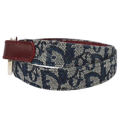 christian-dior-trotter-pattern-belt-navy-canvas-leather-75