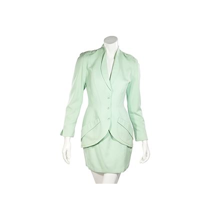 mint-green-vintage-thierry-mugler-skirt-suit-set