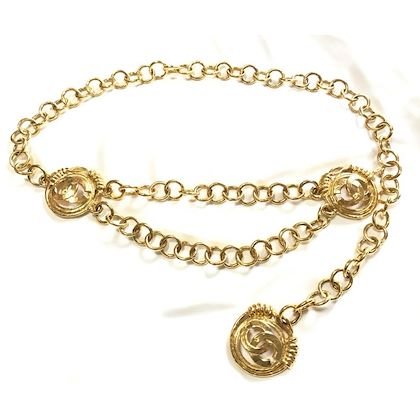 vintage-chanel-golden-chain-belt-with-3-round-large-cc-motif-charms-double-chain-at-front-rare-and-gorgeous-accessory