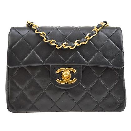 chanel-quilted-cc-single-chain-shoulder-bag-purse-black