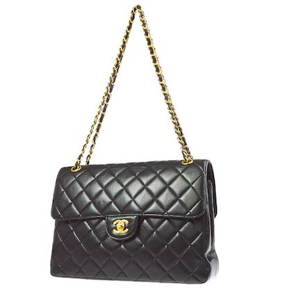 chanel-quilted-both-side-flap-cc-jumbo-chain-shoulder-bag-black