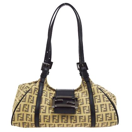 fendi-zucca-pattern-hand-bag-purse-beige-black