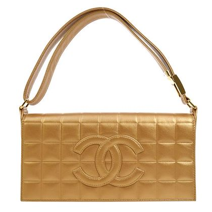 chanel-choco-bar-cc-shoulder-bag-purse-bronze